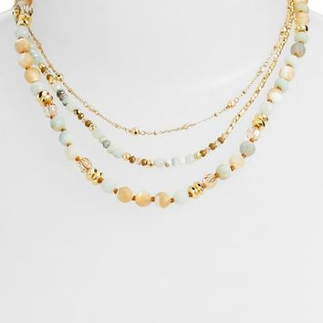 Chan Luu Matte Amazonite Multistrand Necklace | Nordstrom