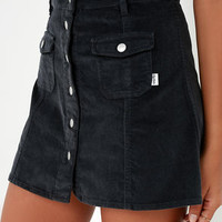 Rhythm Pennylane Washed Black Corduroy Mini Skirt
