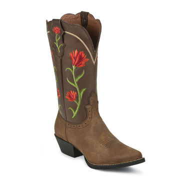 Justin Women's Stampede Rowdy Rose Western Boots