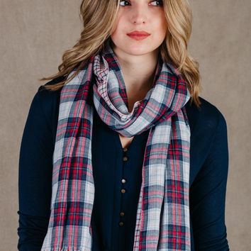 American Way Checkered Reversible Scarf