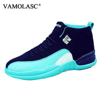 New Men's Leather Basketball Shoes Breathable Sneakers High Top Athletic Shoes High Quality Sports Shoes BS0331
