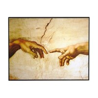 Creation of Adam Wooden Plaque