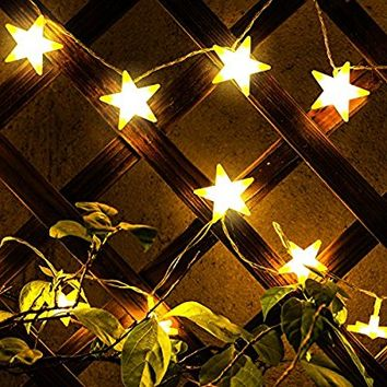 Kohree Star Fairy Lights Battery Operated Star String Lights 30 Led Lights, Warm White