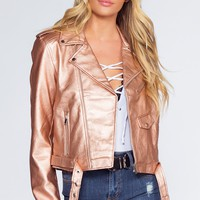 Axl Rider Jacket - Rose Gold