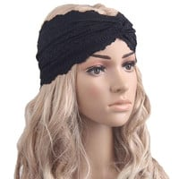 Women's Lace Hair Accessories New Solid 4 Colors Headband For Girls Teens Women  Audult Girls Headbands Bandeau Cheveux GS