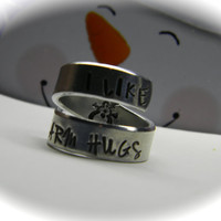 I like warm hugs frozen inspired aluminum swirl ring snowman inside