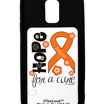 Hope for a Cure - Orange Ribbon Leukemia - Flowers Galaxy S5 Case  by TooLoud