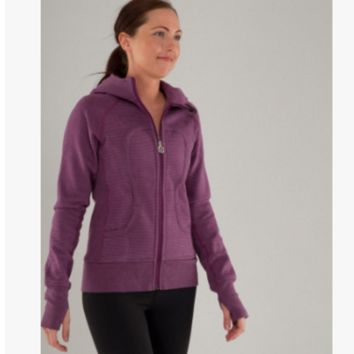 """lululemon"" Scuba Hoodie jog run yoga workout clothes style fashion Purple"