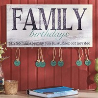 Family Birthday Plaque Sign Wood Calendar Anniversary Wall Art Country Home Decor