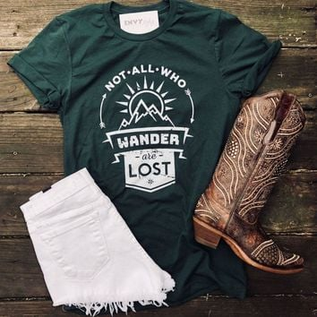 Not All Who Wander Are Lost Graphic Tee A2