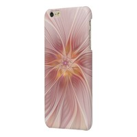 Soft Pink Floral Dream Abstract Modern Flower Glossy iPhone 6 Plus Case