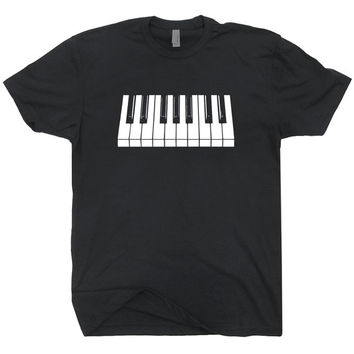 Piano T SHIRT Cool vintage Soft Shirts keyboard keytar mens womens vintage rock mozart TEE