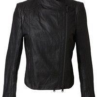 Ann Demeulemeester Distressed Leather Jacket - Smets - Farfetch.com