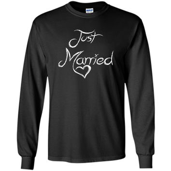 Just Married Couple Awesome Wedding Bride Groom Gift T-Shirt