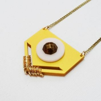 Long Chain Gold and White Necklace