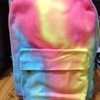 Tie-dye gradient rainbow ice cream backpack