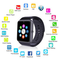 BluetGT08 Bluetooth Smart Watch With TF Sim Card Camera Clock Notifier For Samsung Android phone