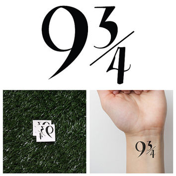 Harry Potter - Platform 9 3/4 - Temporary Tattoo (Set of 2)