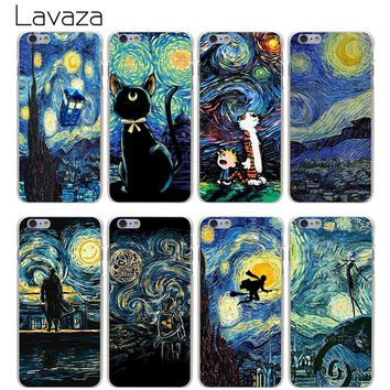 Lavaza Starry Night harry potter Hard Transparent Cover Case for iPhone X 10 8 7 6 6S Plus 5 5S SE 5C 4 4S