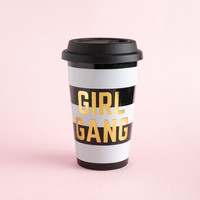 Girl Gang Black White Coffee Tumbler