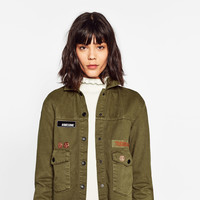 CROPPED MILITARY JACKET DETAILS