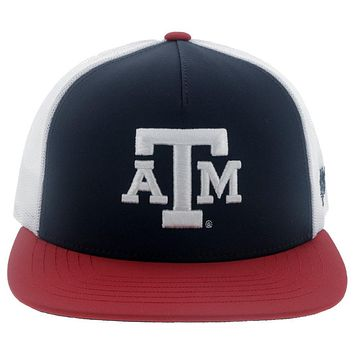 Texas A&M Red/White/Blue Snapback Cap 7024t-whnv