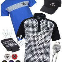 The Par 5 - Houndstooth Men's Tattoo Bundle