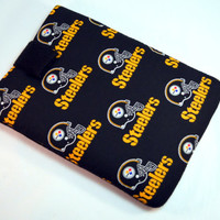 Holiday Gift/ Pittsburgh steelers Tablet Case/ Football Team Tablet Case / Kindle Fire Case/ i Pad case/ Nook HD Case/Christmas Gift