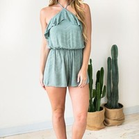 Gimme More Hatler Neck Romper