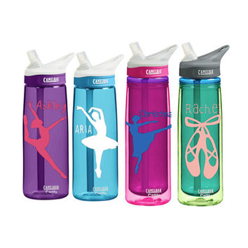 Dance Personalized CamelBak 0.75 Eddy or 20 Ounce 20-oz Insulated Camelback Personalized  Water Bottle Sports bottles Name water bottle Gift