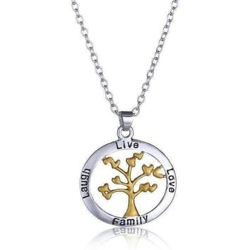 ON SALE - Live Love Laugh Family Tree Necklace