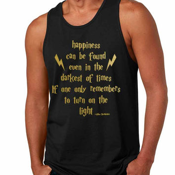 Men's Tank Top Happiness Can Be Found Even In The Darkest