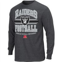 Oakland Raiders Arched Logo Long Sleeve T-Shirt