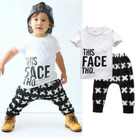 """This face tho"" Boys Shirt and Pants Set"