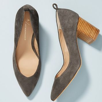 Anthropologie Yvonne Block Heels