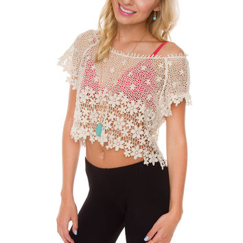 Ivy Lace Crop Top - Ivory