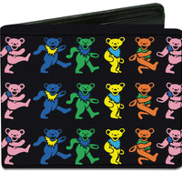 Grateful Dead Men's Dancing Bears Bi-Fold Wallet