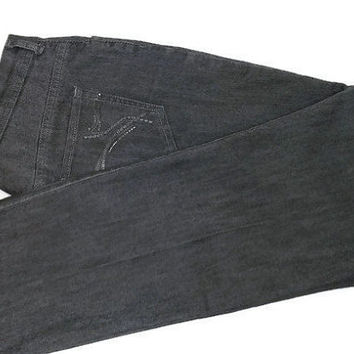 Vintage Gloria Vanderbilt Gray Denim Jeans Amanda Sz 14 Embellishments on Back Pockets Apparel Gift