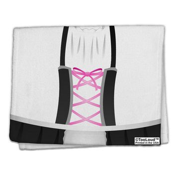 "Dirndl Costume Black 11""x18"" Dish Fingertip Towel All Over Print by TooLoud"