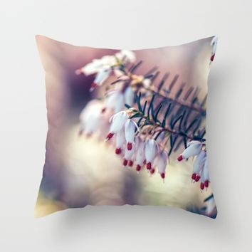 Heather Throw Pillow by Kristopher Winter