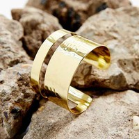 Golden Lines Cuff Bracelet- Gold One