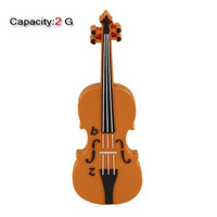 2GB Lovely Violin Shape Flash Drive (Orange)