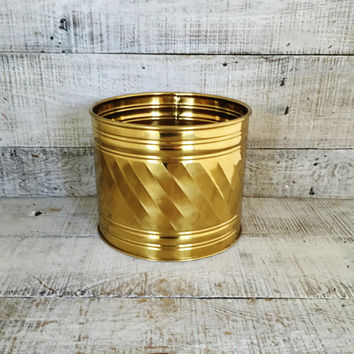 Brass Planter Vintage Brass Bowl Vintage Plant Pot Vintage Garden Container  Brass Flower Pot Brass Outdoor