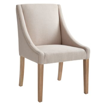 WINSTON DINING CHAIR - LINEN FABRIC