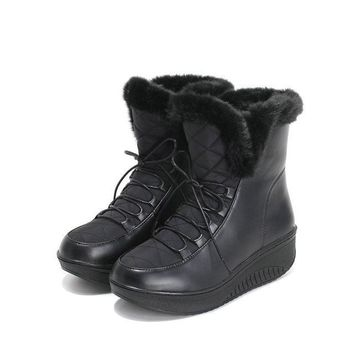 Madeline Winter Lace-Up Boots