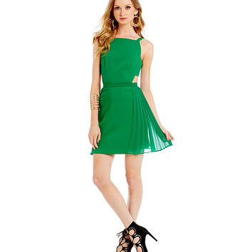 BCBGMAXAZRIA Brielle Open Back Pleated Dress | Dillards