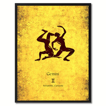 Gemini Horoscope Astrology Canvas Print, Picture Frame Home Decor Wall Art Gift