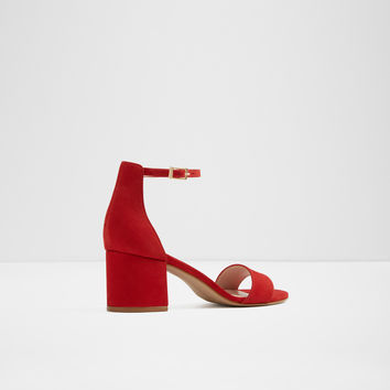 Villarosa Red Nubuck Women's Block heels | ALDO US