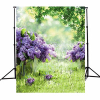 3x5ft Vinyl Photography Background Spring Outdoor Flowers Photographic Backdrops For Studio Photo Props Cloth 1x1.5m