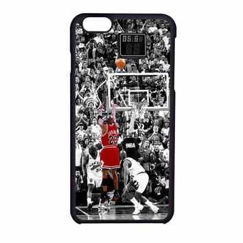 Michael Jordan Last Shot In NBA iPhone 6 Case
